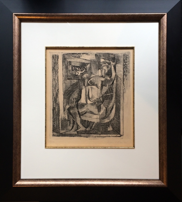Filla  Emil (1882 - 1953) : Kubistický akt