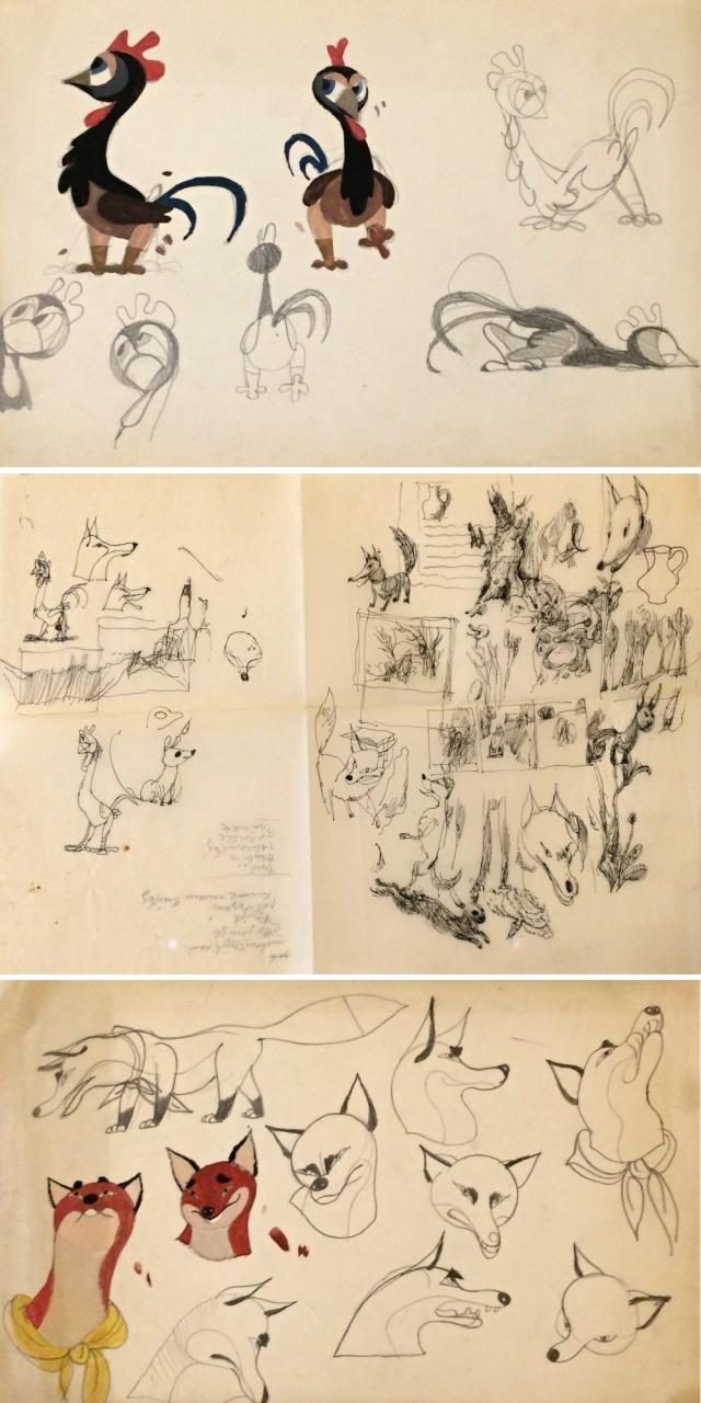 Trnka Jiří (1912 - 1969) : 14 kreseb J. Trnky k filmu Liška a džbán