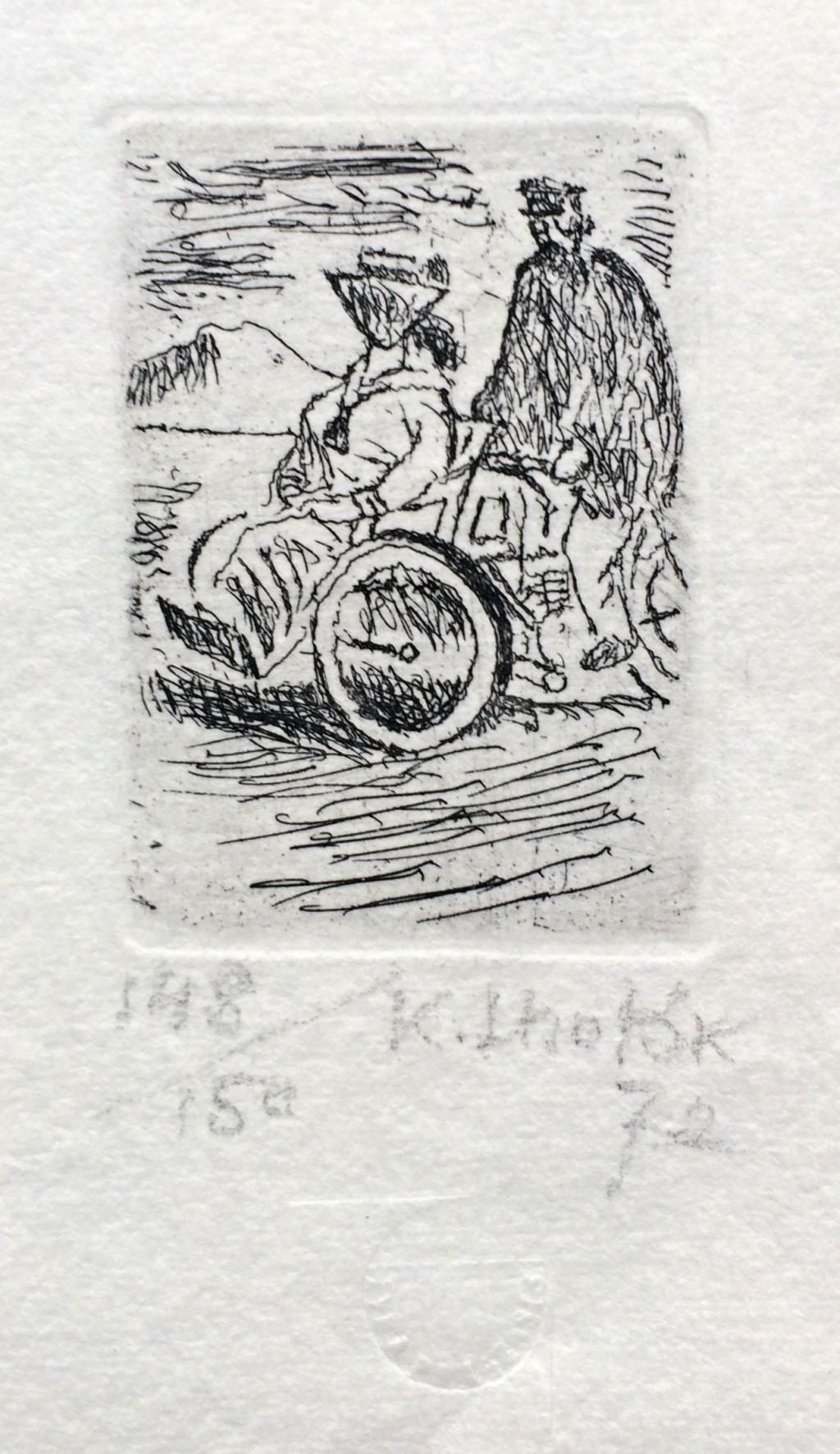 Lhoták Kamil (1912 - 1990) : Motorová tříkolka