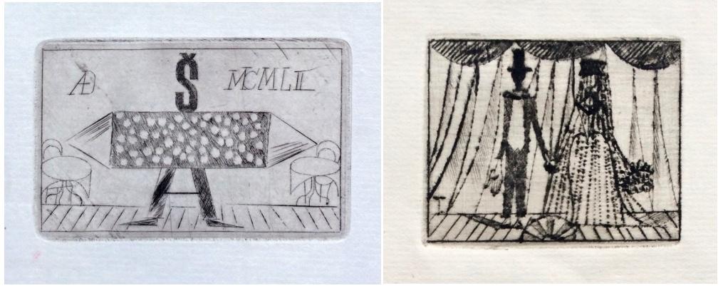 Tichý František (1896 - 1961) : 2 x suchá jehla