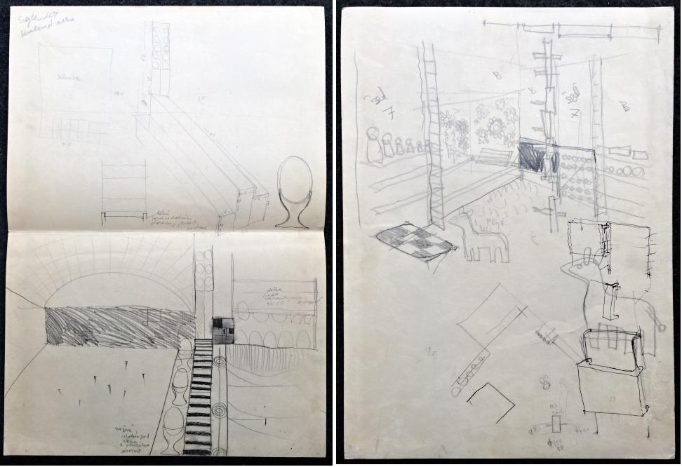 Trnka Jiří (1912 - 1969) : 2 x scén. návrh