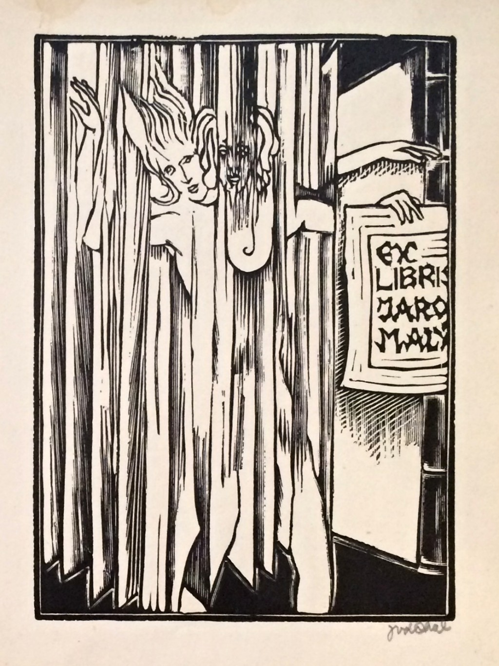 Váchal Josef (1884 - 1969) : Ex libris Jaro Malý