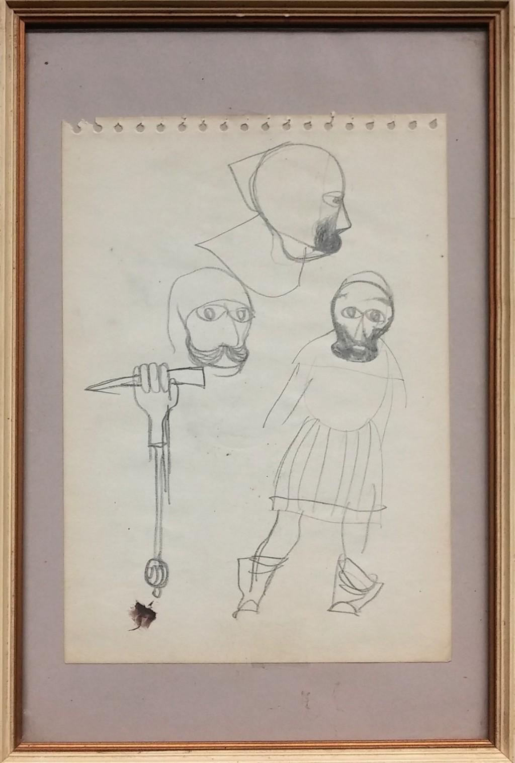 Trnka Jiří (1912 - 1969) : Skica k loutkám - Staré pověsti české
