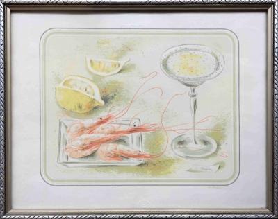 Bouda Cyril (1901 - 1984) : Zátiší s krevetami