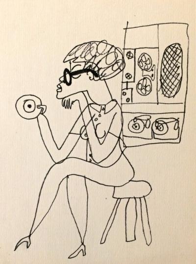 Šlitr Jiří (1924 - 1969) : Dívka s magnetofonem