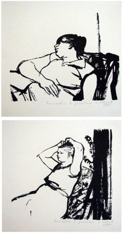 Hložník Vincent (1919 - 1997) : Konvolut 2 grafik