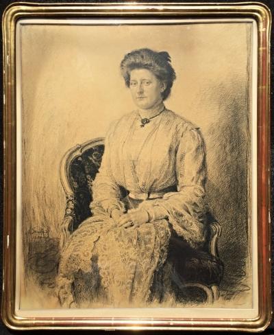 Švabinský Max (1873 - 1962) : Portrét Žofie Rieglové