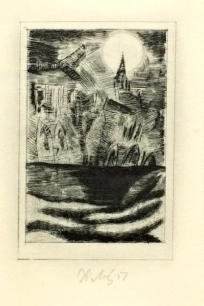 Tichý František (1896 - 1961) : Ilustrace k povídce E.A. Poea, Zánik domu Usherů