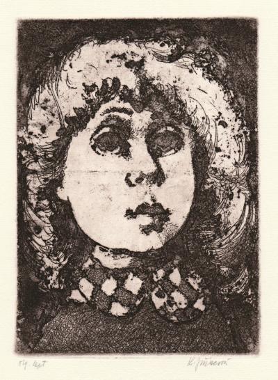 Jiřincová Ludmila (1912 - 1994) : Hlava dívky