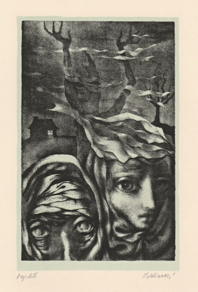 Jiřincová Ludmila (1912 - 1994) : Stařena a dívka