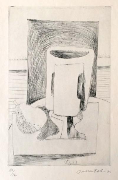Janeček Ota (1919 - 1996) : Kubistické zátiší