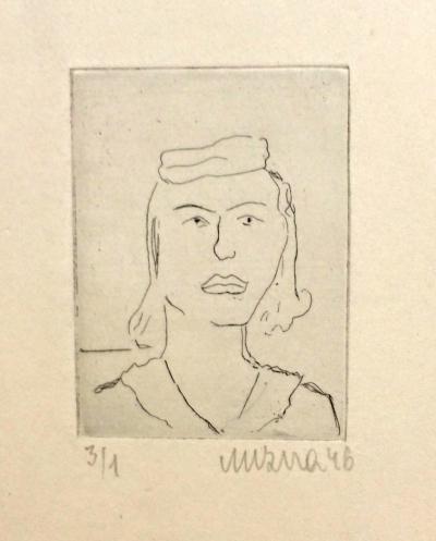 Mizera Otta (1919 - 1952) : Hlava dívky