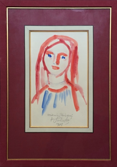 Svolinský Karel (1896 - 1986) : Hlava dívky