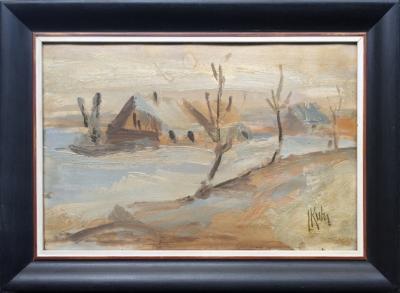 Kuba Ludvík (1863 - 1956) : Chalupy v zimě