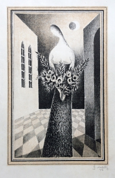 Malý František (1900 - 1980) : Žena s květinami