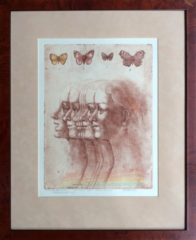 Anderle Jiří (1936) : Čtyři motýli a dívka