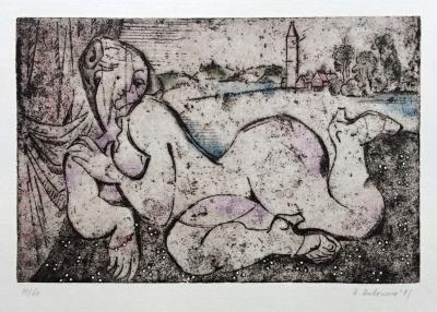 Antonová Alena (1930) : Ležící akt