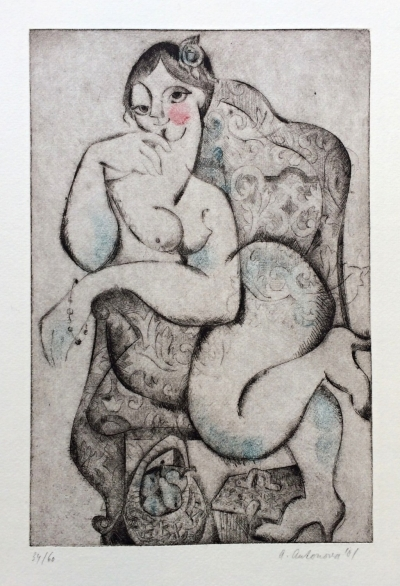 Antonová Alena (1930) : Akt v křesle