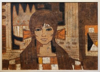 Sedliský Ivan (1926 - 1999) : Dívka se žlutou mašlí