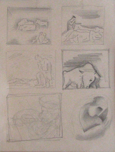 Galanda Mikuláš (1895 - 1938) : 6 studijních kreseb