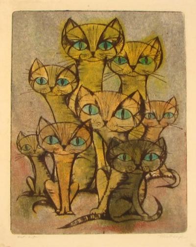 Ketzek František (1906 - 1978) : Kočičí svět