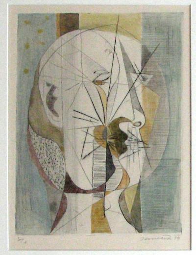 Janeček Ota (1919 - 1996) : Kubistická hlava