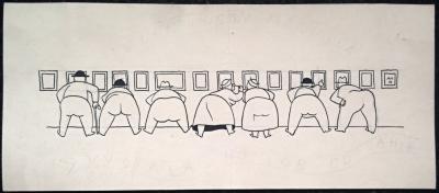 Hoffmeister Adolf (1902 - 1973) : kresba k výstavě portrétů AH