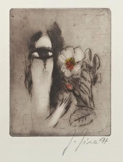 Jíra Josef (1929 - 2005) : Dívka s květinou