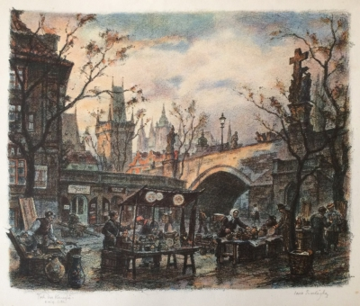 Procházka Jaro (1886 - 1949) : Trh na Kampě