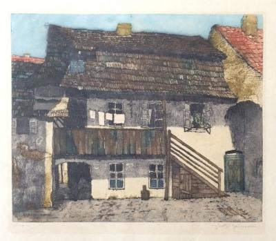Stretti - Zamponi Jaromír (1882 - 1959) : Pražský dvorek