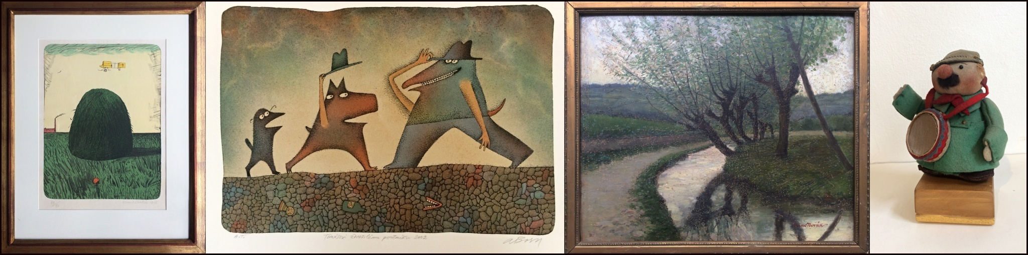 Výstava děl k X. aukci Galerie Lazarská